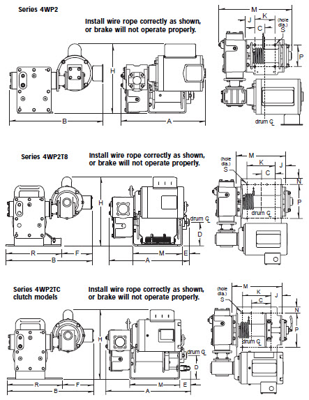 Item # 4WP2T8-2000-8, Series 4WP2 Worm Gear Power Winches On Jamieson  Equipment Co., Inc.Products On Jamieson Equipment Co., Inc. - Jamieson Equipment Co.
