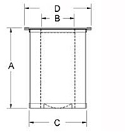 51 series top hat style separator drawing