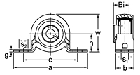 BPR200 Series pillow block unit drawing