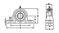 Pillow block bearing UCEP200 series drawing