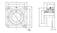 M2000 4-bolt flange drawing
