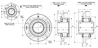 M2000 Piloted Flange Cartidge Bearing Drawing