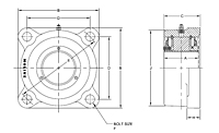 M3000 4-bolt flange drawing