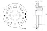 M3000 Piloted Flange Cartidge Drawing