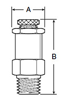RV01A1N Pop Off Relief Valve Drawing