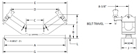 Self-Aligning Troughing Idler Drawing