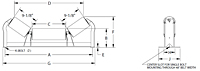 Troughing Idlers Unequal Length Rollers Drawing