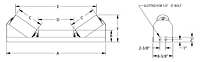 Low Profile Channel Mount Idler Drawing