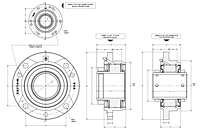 Type E piloted flange drawing