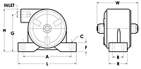 VS Series Pneumatic Turbine Vibrator Diagram