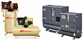 Air Compressors Image Atlas Copco and Ingersoll Rand