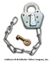 Steel Padlock with Chain