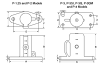 Cougar P Series Piston Vibrators Drawing