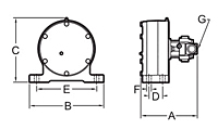 NHD Hydraulic Vibrator Drawing