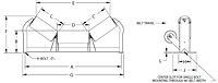 Offset Center Roll Idler Drawing