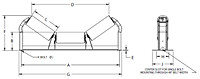 Troughing Idlers Equal Lengths Drawing